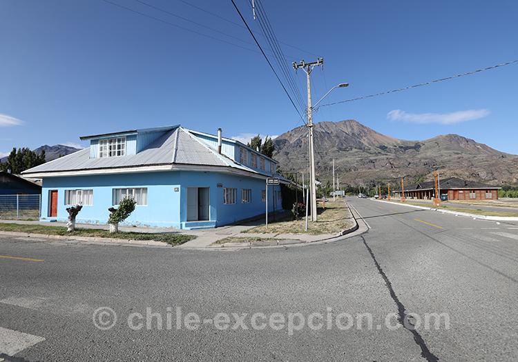 Allez au village de Puerto Ibañez dans la région d'Aysen au Chili
