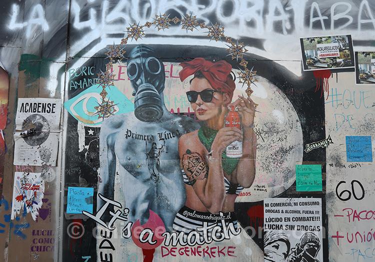 Murs des contestations au Chili