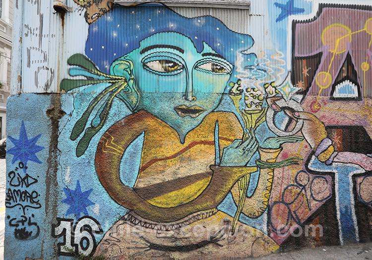 Découvrir le street art de Valparaiso