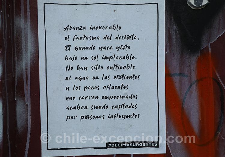 Poésie politique du Chili