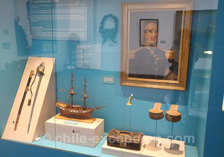 Objets exposés au musée maritime national de Valparaiso