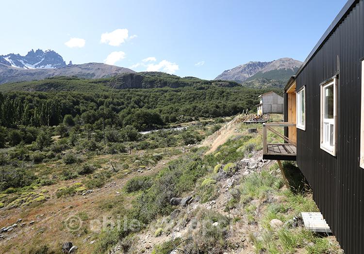 Refuge en plein milieu du parc national du Cerro Castillo avec l'agence de voyage Chile Excepción