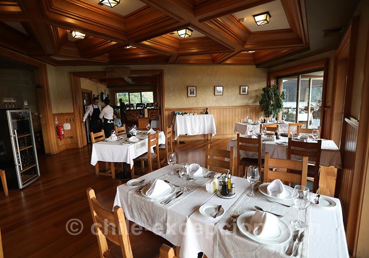 Restaurant de l'hôtel Loberias del Sur, Chili
