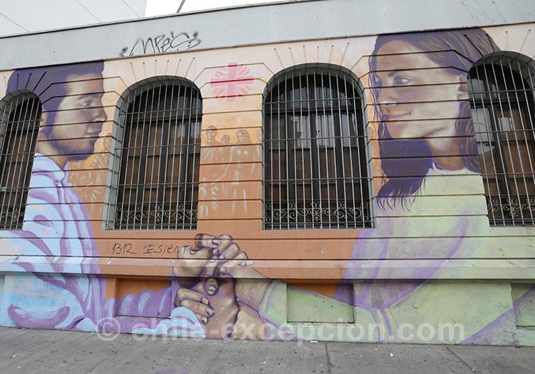 Le street art de la ville basse de Valparaiso
