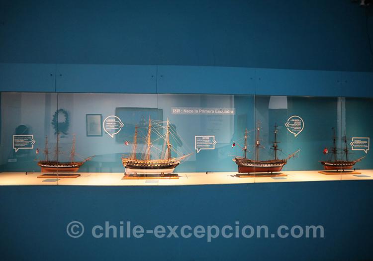 Maquettes de bateaux au musée maritime national de Valparaiso