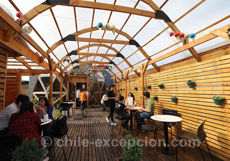 Petit restaurant de Coyhaique, Chili avec l'agence de voyage Chile Excepción