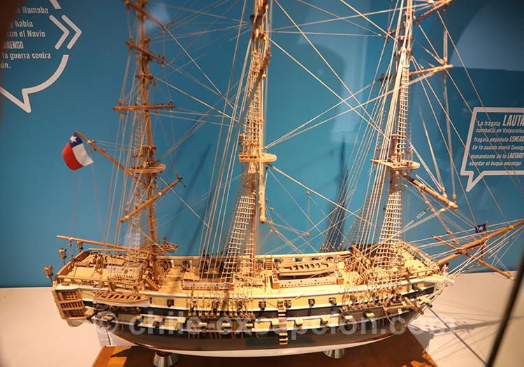 Maquette de bateau, musée maritime national, Valparaiso