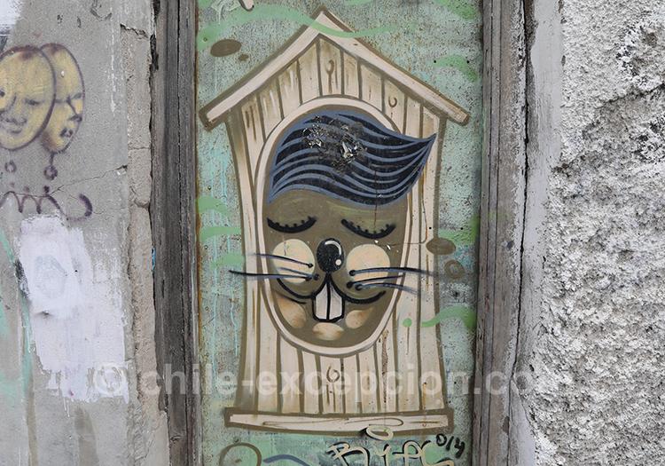 Petits dessins dans les rues de Valparaiso, Chili