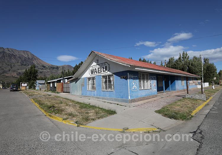 Maison bleue de Puerto Ibañez, Chili