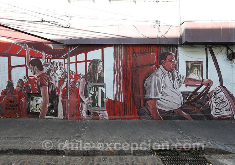 Art de rue à Valparaiso, Chili