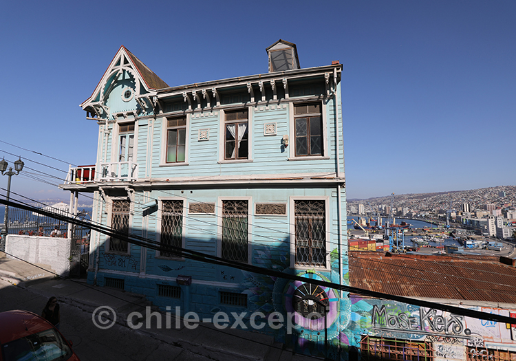 Maison au sommet du Cerro Artilleria, Valparaiso