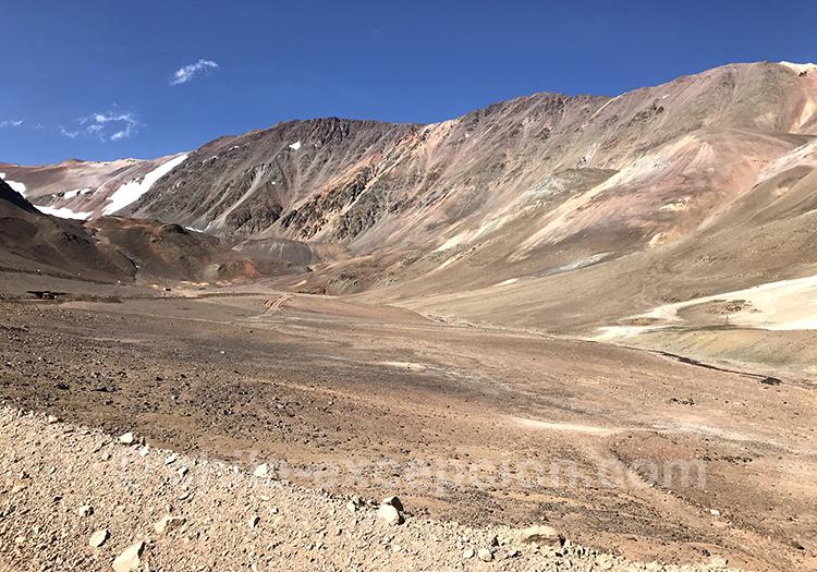 Agua Negra, col qui fait office de frontière entre le Chili et l'Argentine