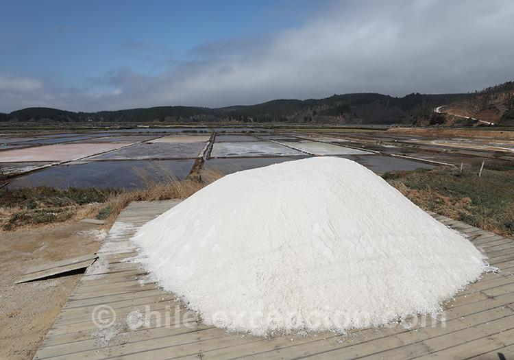 Montagne de sel aux salines de Cahuil, Chili