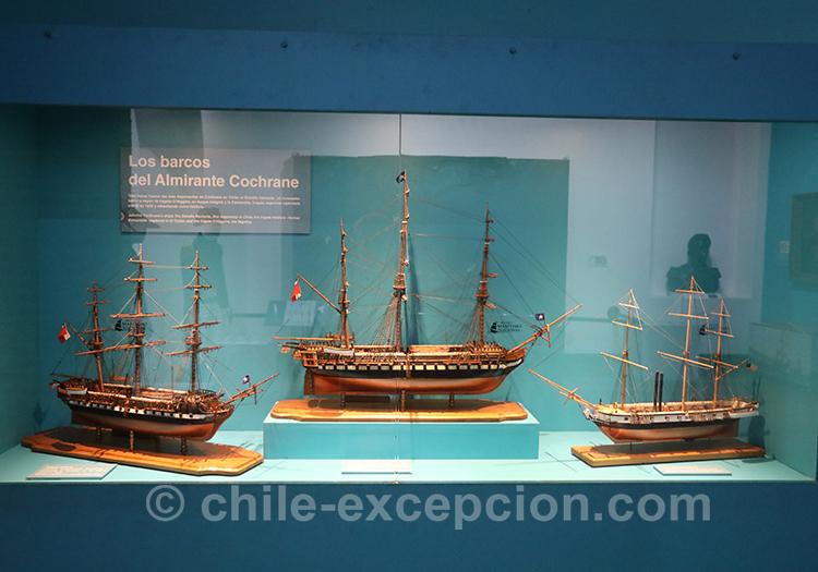 maquettes de Bateaux d'époque à Valparaiso