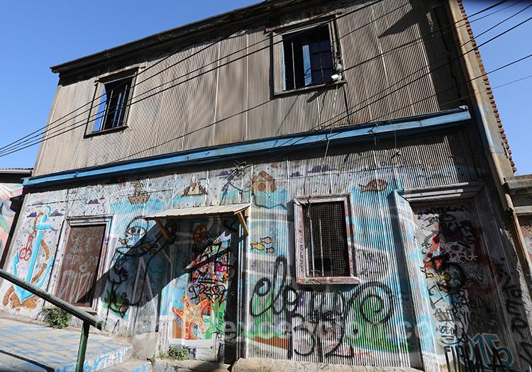 Street art du Cerro Artilleria, Valparaiso