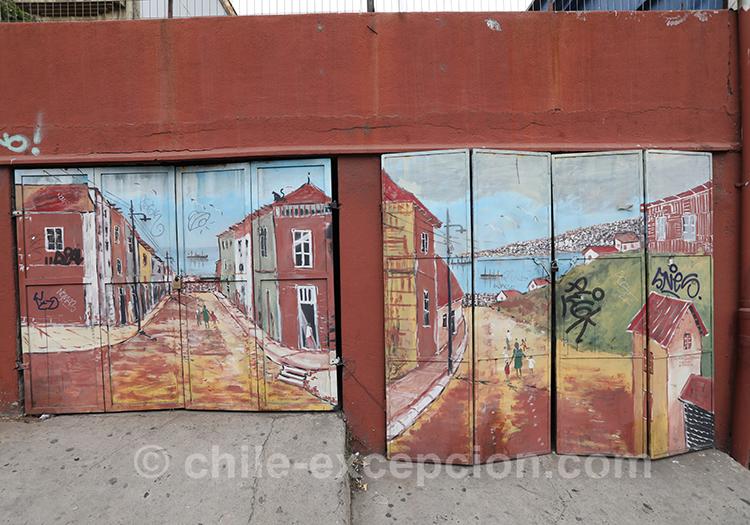 Se promener dans les rues de Valparaiso, street art