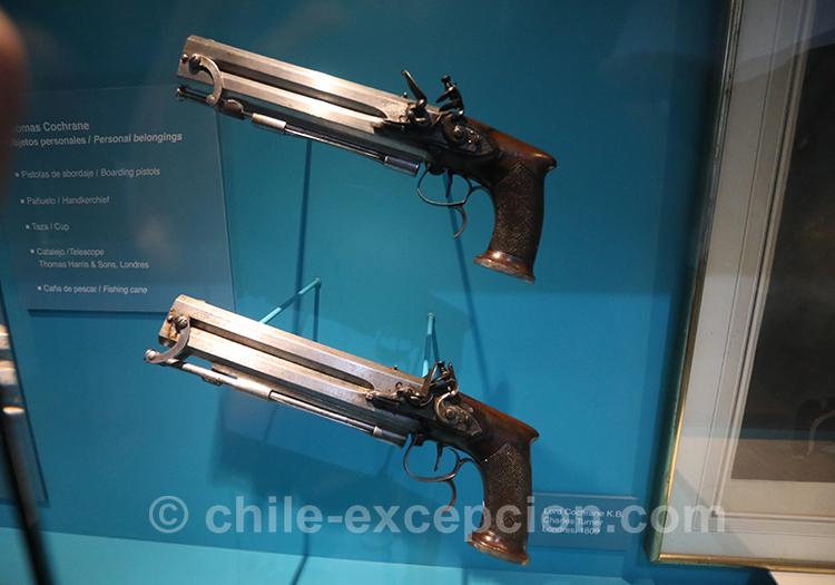 Pistolets au musée maritime national, Valparaiso