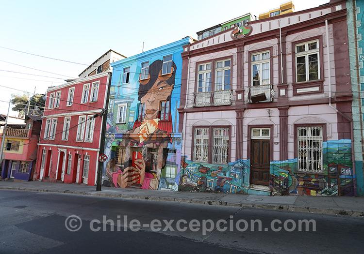 Peinture murale, Cerro Artilleria, Valparaiso