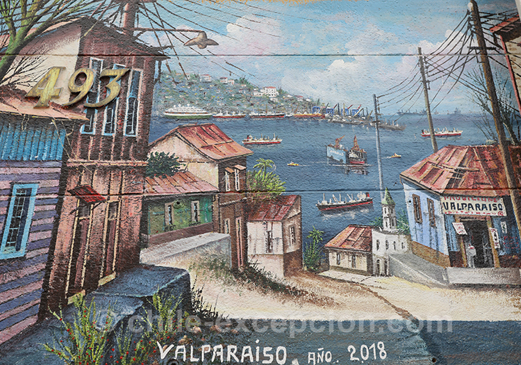 Peintures de Valparaiso, street art