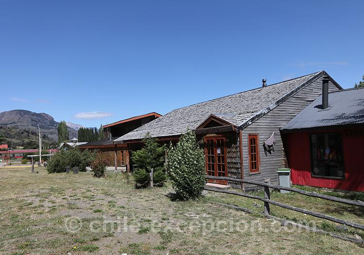 Maison typique de Cerro Castillo la Patagonie australe du Chili