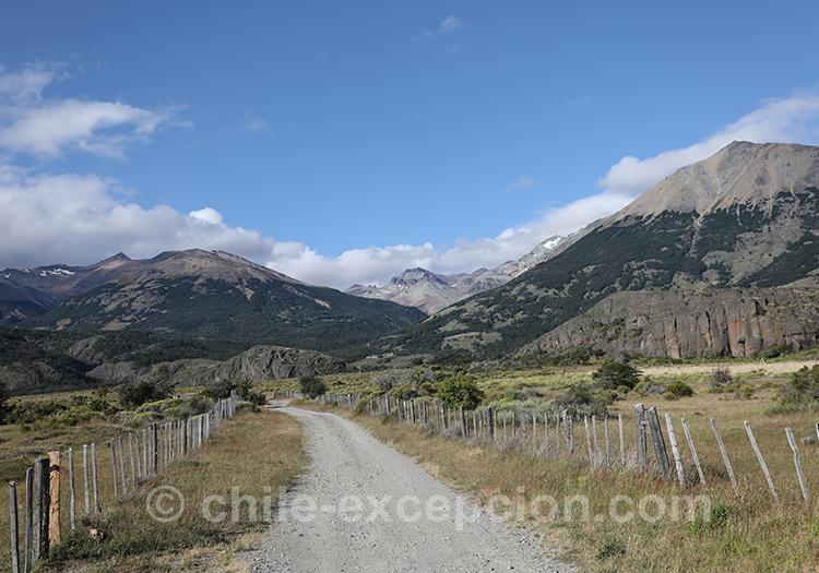 Chemin de Patagonie australe au Chili