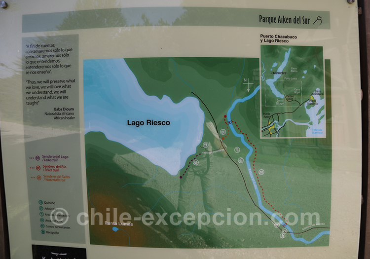 Carte du parc Ayken au Chili