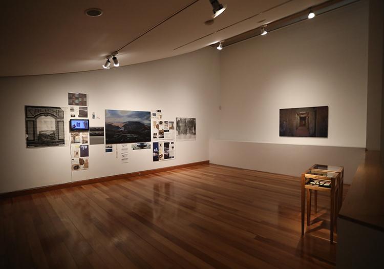 Salle d'exposition du musée des Arts Visuels, Lastarria, Santiago, Chili