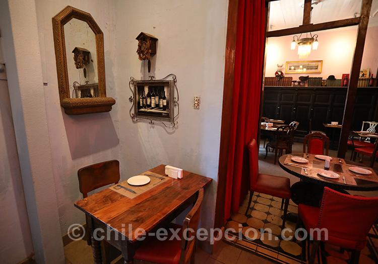 Restaurant La Peluquería, quartier Yungay, Santiago de Chile