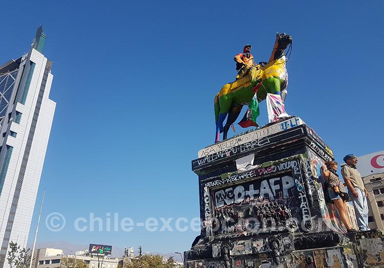 Place des contestations au Chili