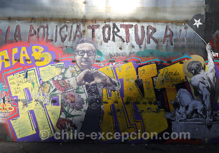 Police et torture, murs du Chili