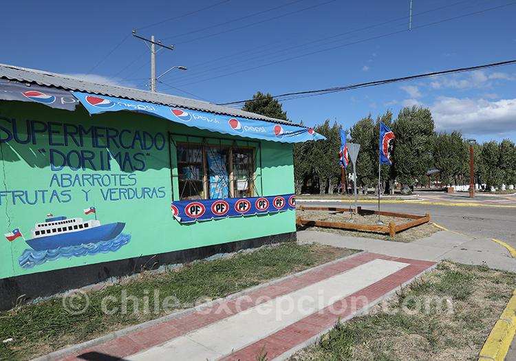 Petite superette de Puerto Ibañez, Patagonie australe, Chili