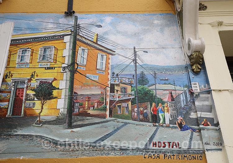 Rues joyeuses de Valparaiso, street art
