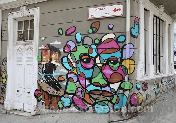 Tags de rue, art à Valparaiso