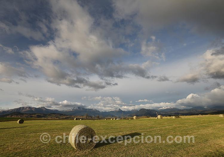 Les alentours de l'aéroport de Balmaceda, Chili