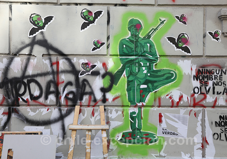 Les manifestations anti armée au Chili