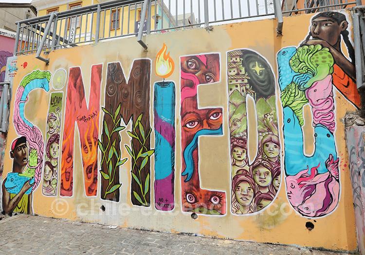 Sin Miedo, street art et politique à Valparaiso