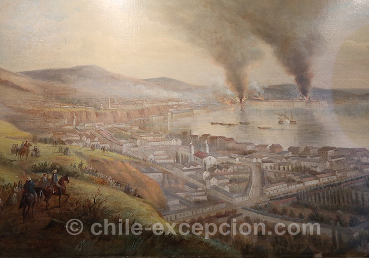 Le bombardement de Valparaiso 1870