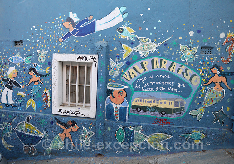Valparaiso, la ville du street art au Chili