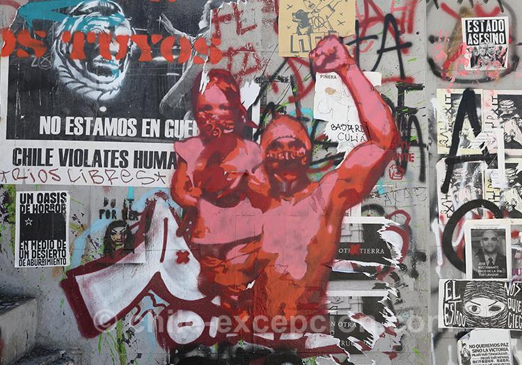 La lutte chilienne sur les murs