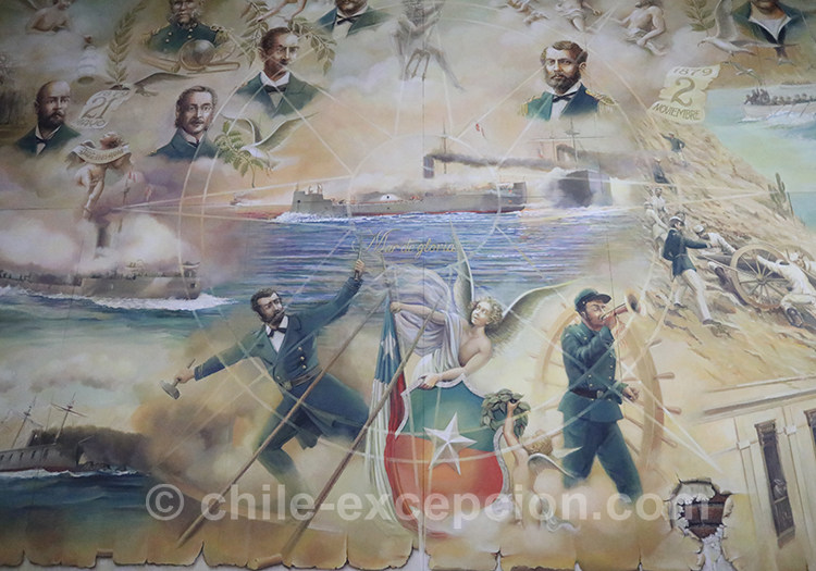 Tableau au musée maritime de Valparaiso