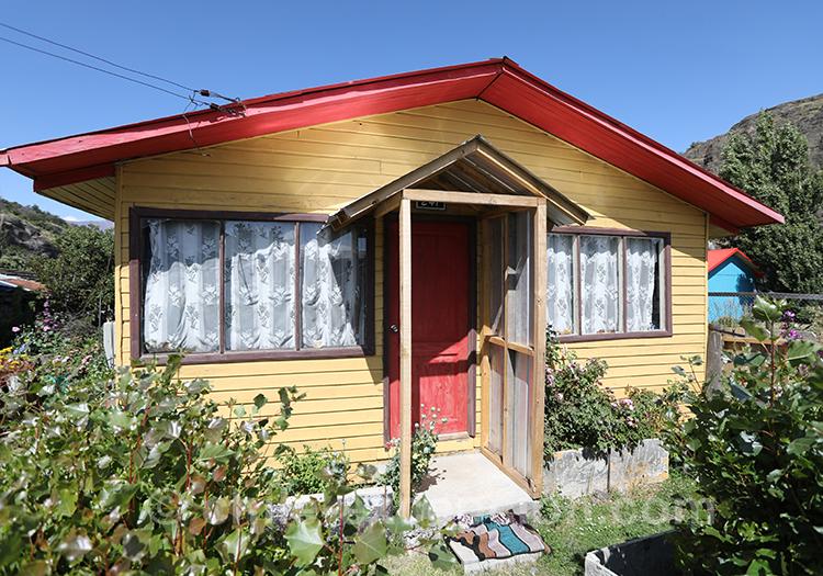Petite maison du village patagon du Chili Cerro Castillo