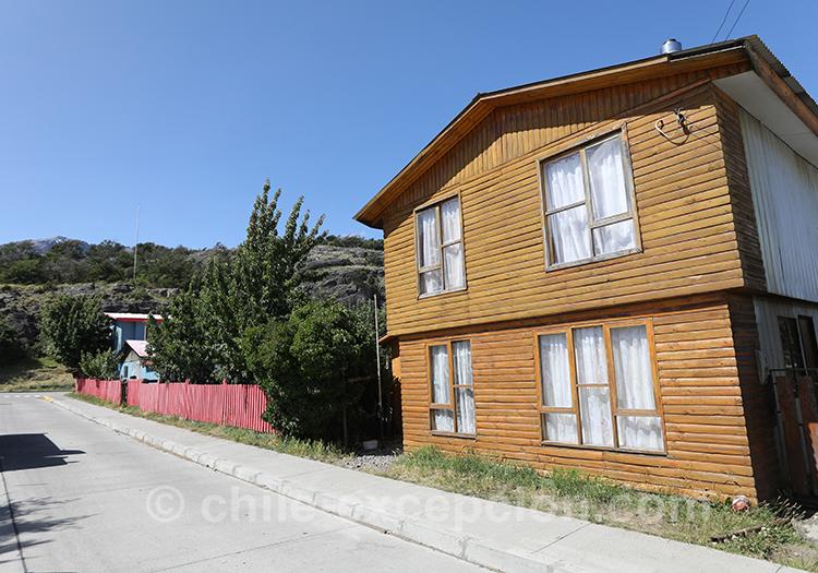 Chalet typique de la Patagonie australe du Chili, Cerro Castillo