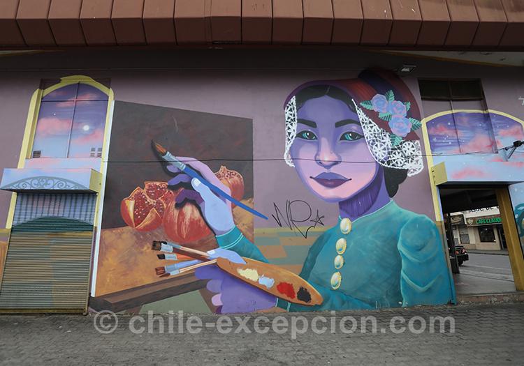 Magnifiques dessins de rue au Chili, Valparaiso