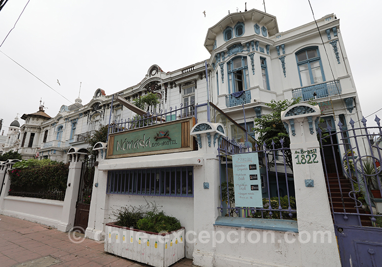 L'architecture de la ville basse de Valparaiso