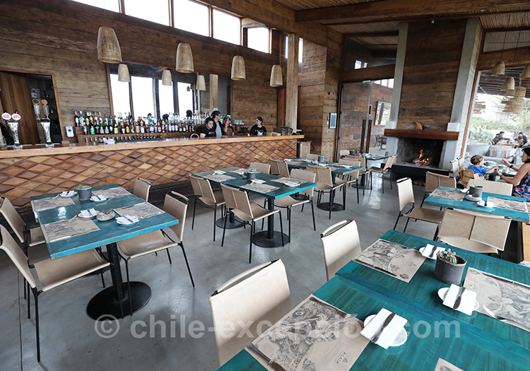 Restaurant de l'hôtel Alaia, Pichilemu, Chili