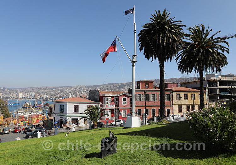 Vue panoramique depuis le musée maritime national Valparaiso