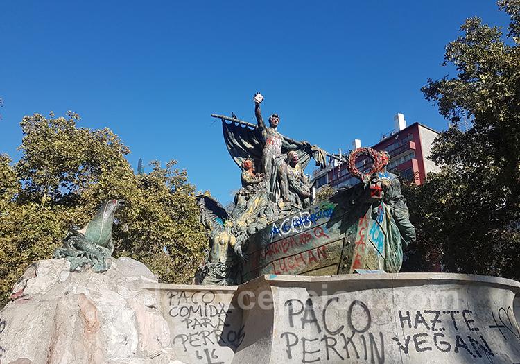 Tags sur les places au Chili