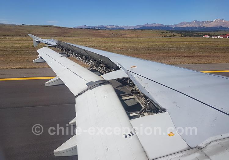 Atterrissage à Coyhaique, Chili