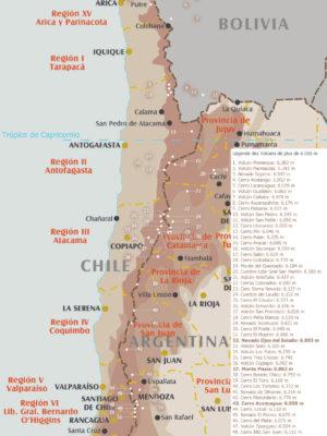 Sommets 6.000 m Chili, Argentine, Bolivie