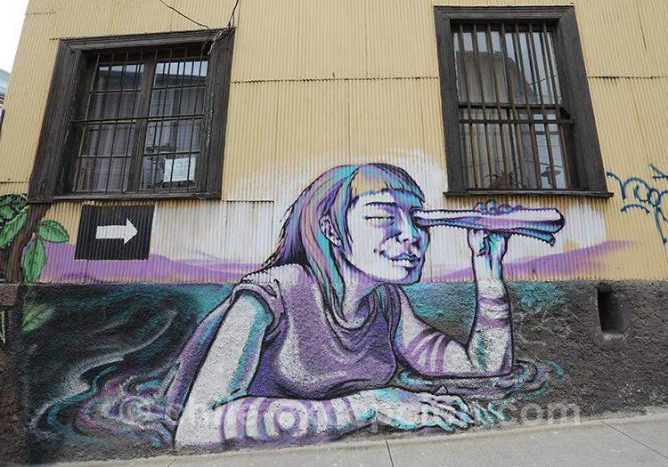 Arpenter les rues de Valparaiso, Chili
